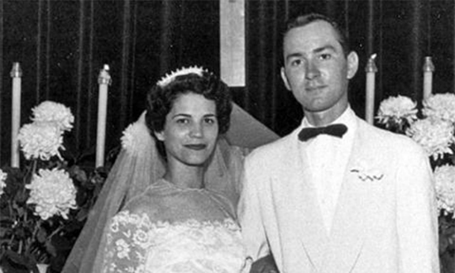 Eva and Ernie Serrano on their wedding day 1952