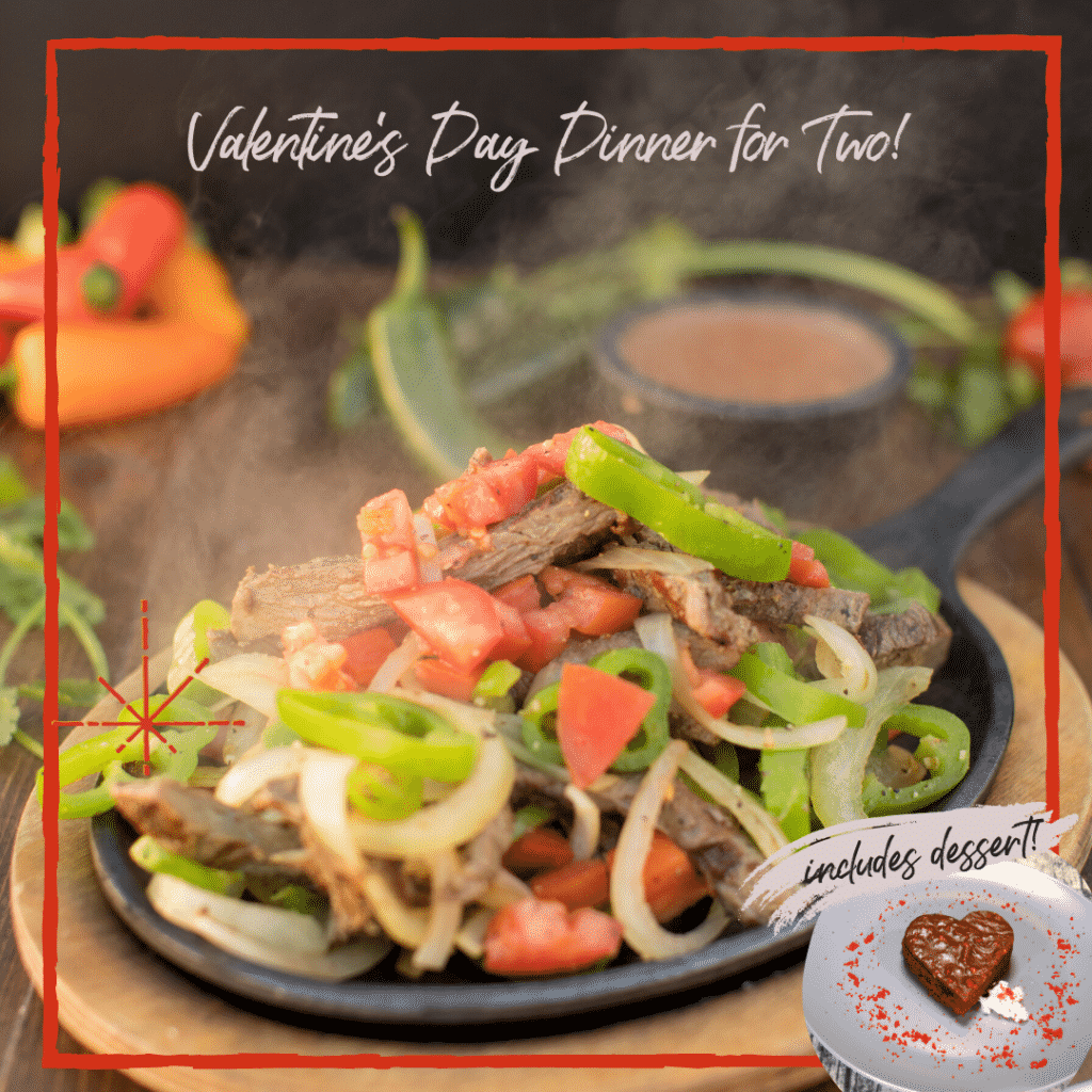 Valentine's Day Fajitas for Two with Desert just $29.99 at Serrano's Mexican Food Restaurants!